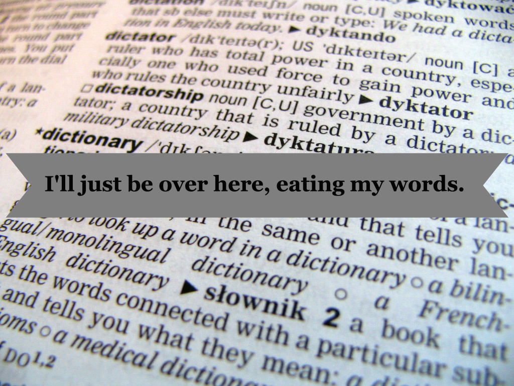 eating my words