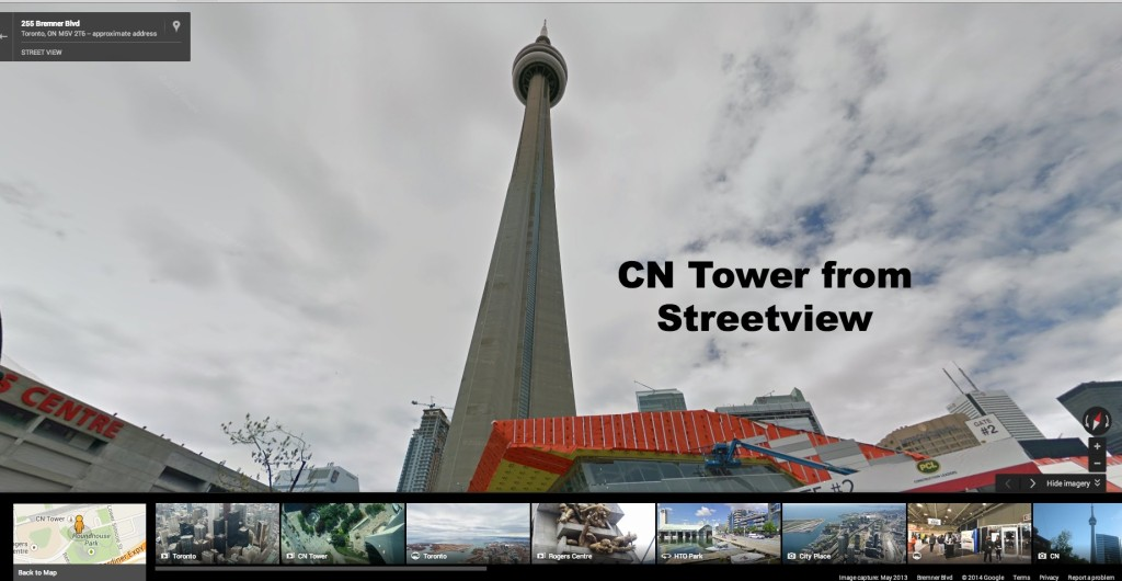 CN Tower Streetview