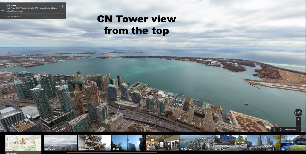 CN Tower view from the top