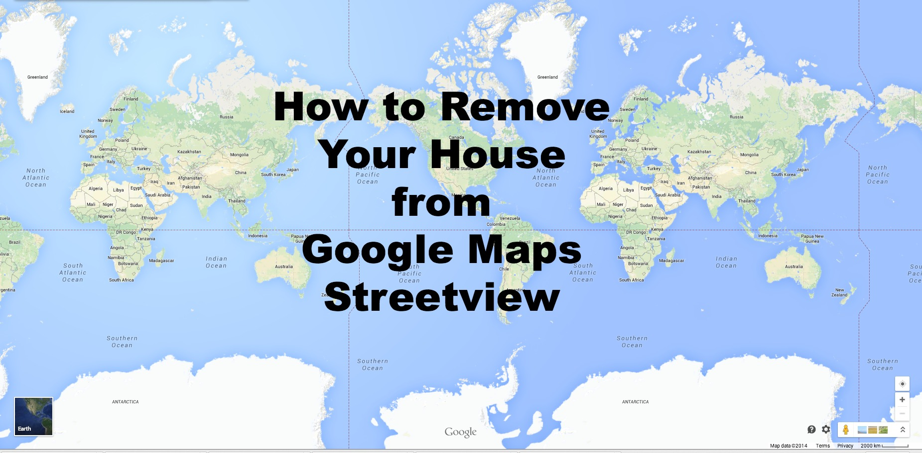 Removing Your House from Google Maps | I don\'t blog, but if I did...