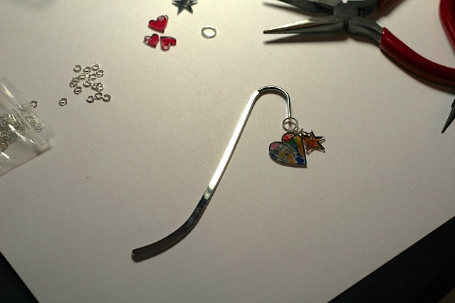 shrinky dink bookmark
