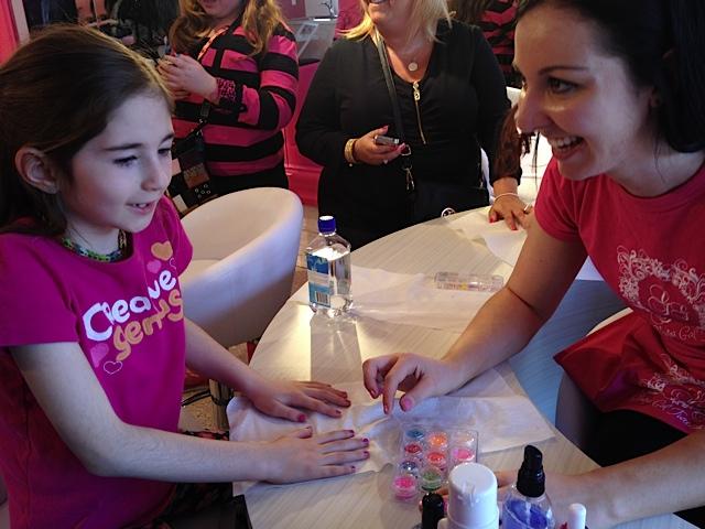 Story getting a mini manicure