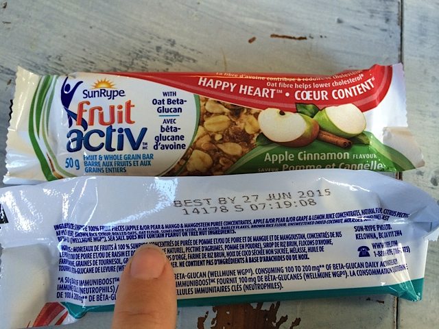SunRype FruitActiv™ bars contain no peanut or tree nut ingredients