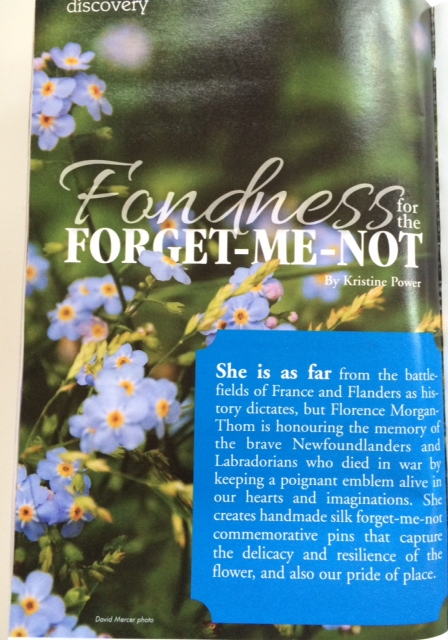 Forget-Me-Nots by Florence Morgan-Thom Downhome magazine