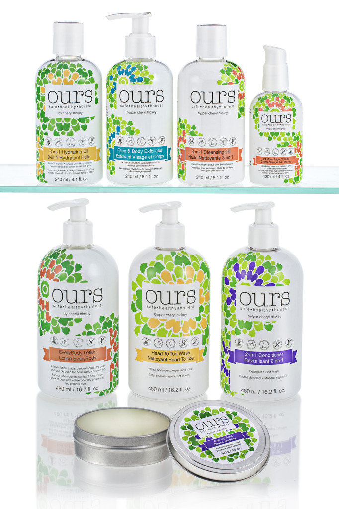 OURS by Cheryl Hickey Full Product Line