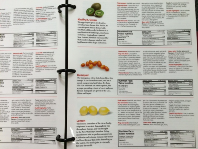 Handy nutritional information is available for every item in the produce section at Loblaws