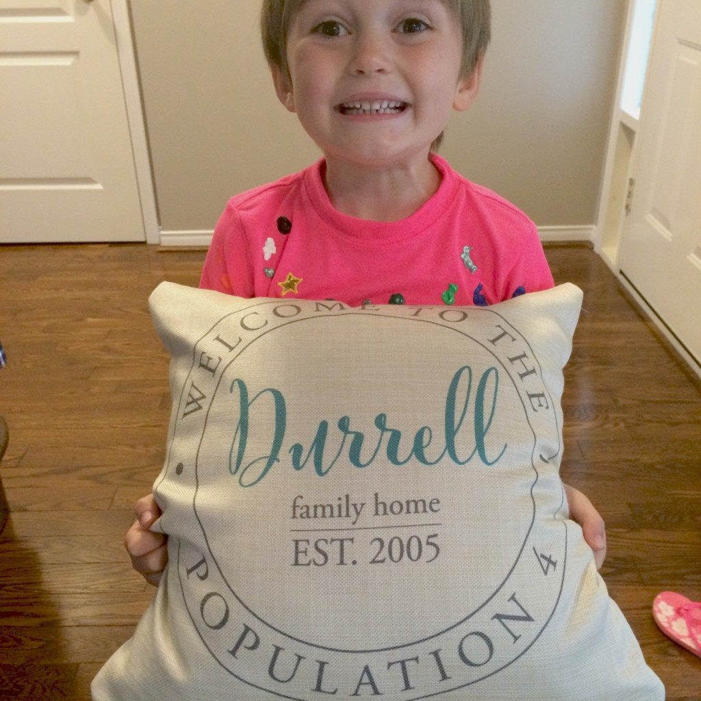 Even my kid loves our Little Monkey Designs personalized pillow.