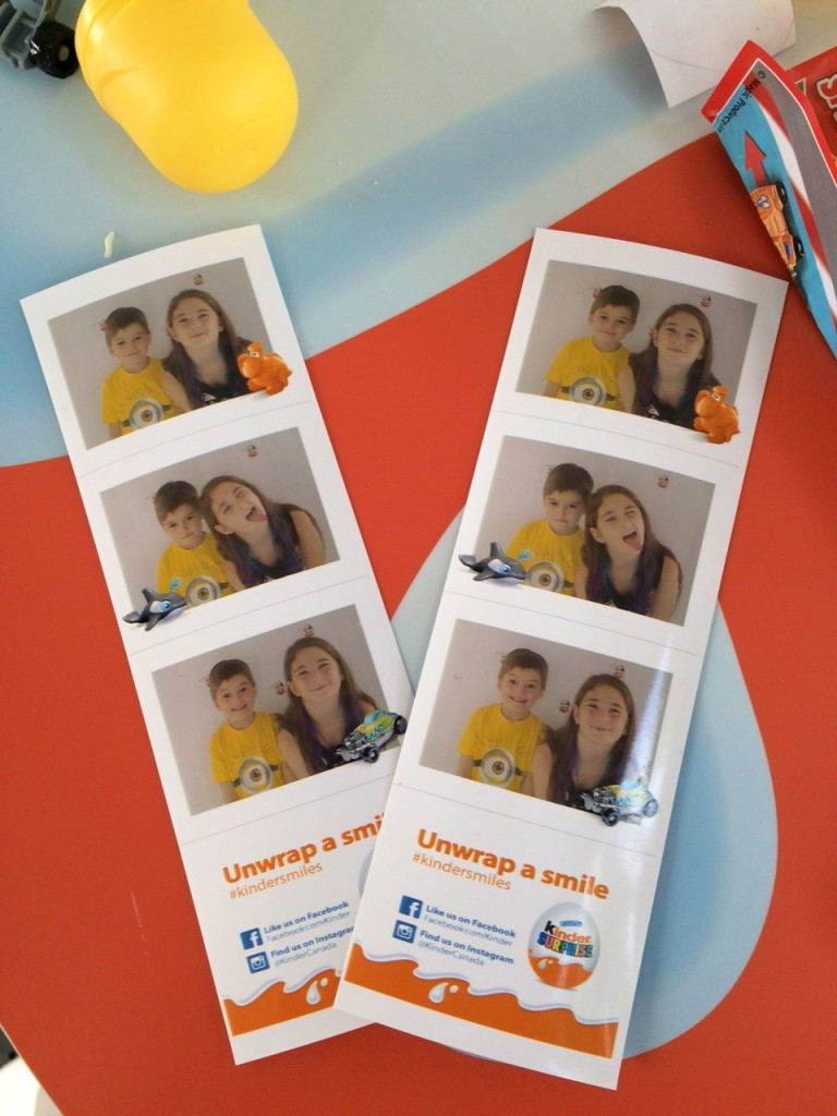 #KinderSmiles at the Kinder booth at the CNE