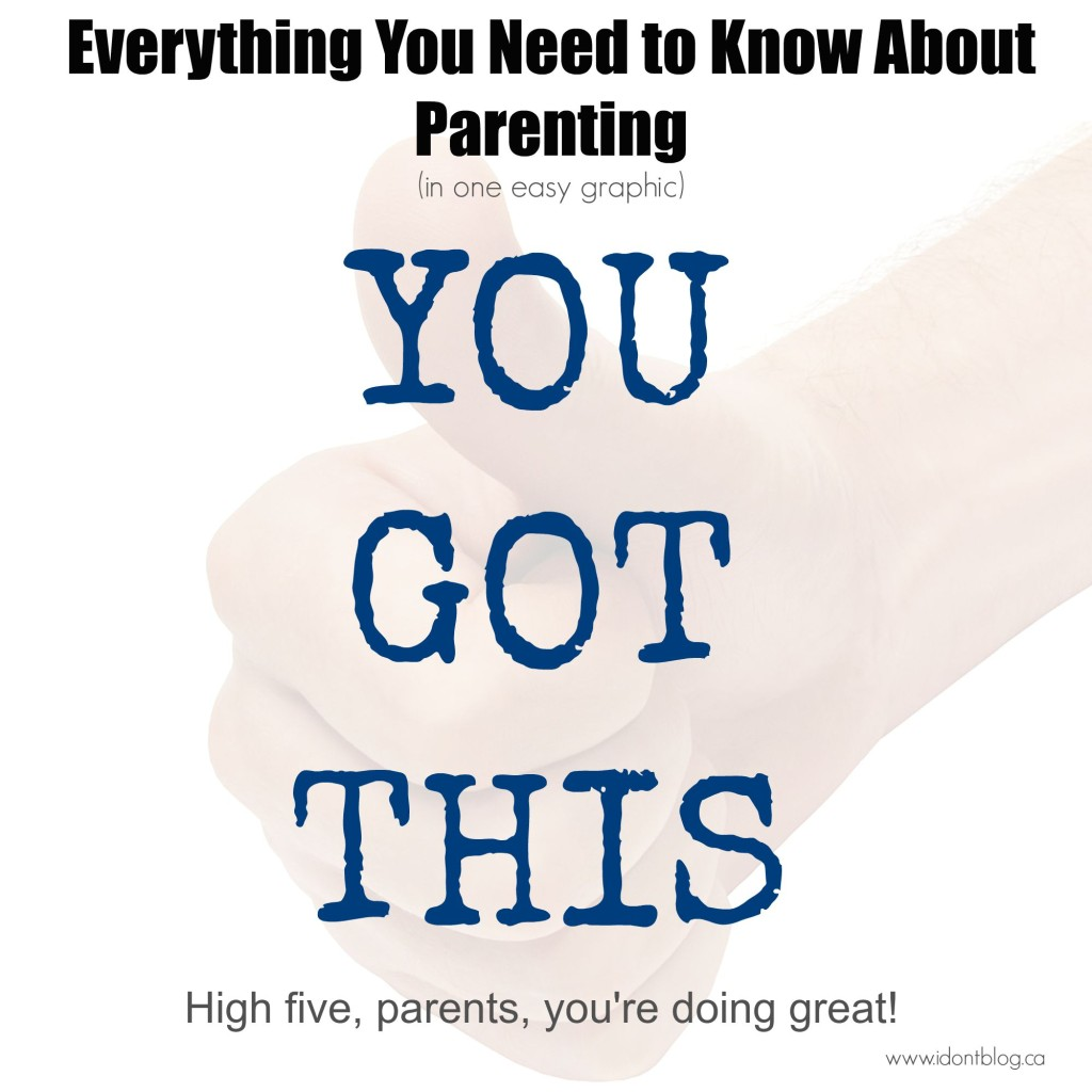 Everything you need to know about parenting in one easy graphic