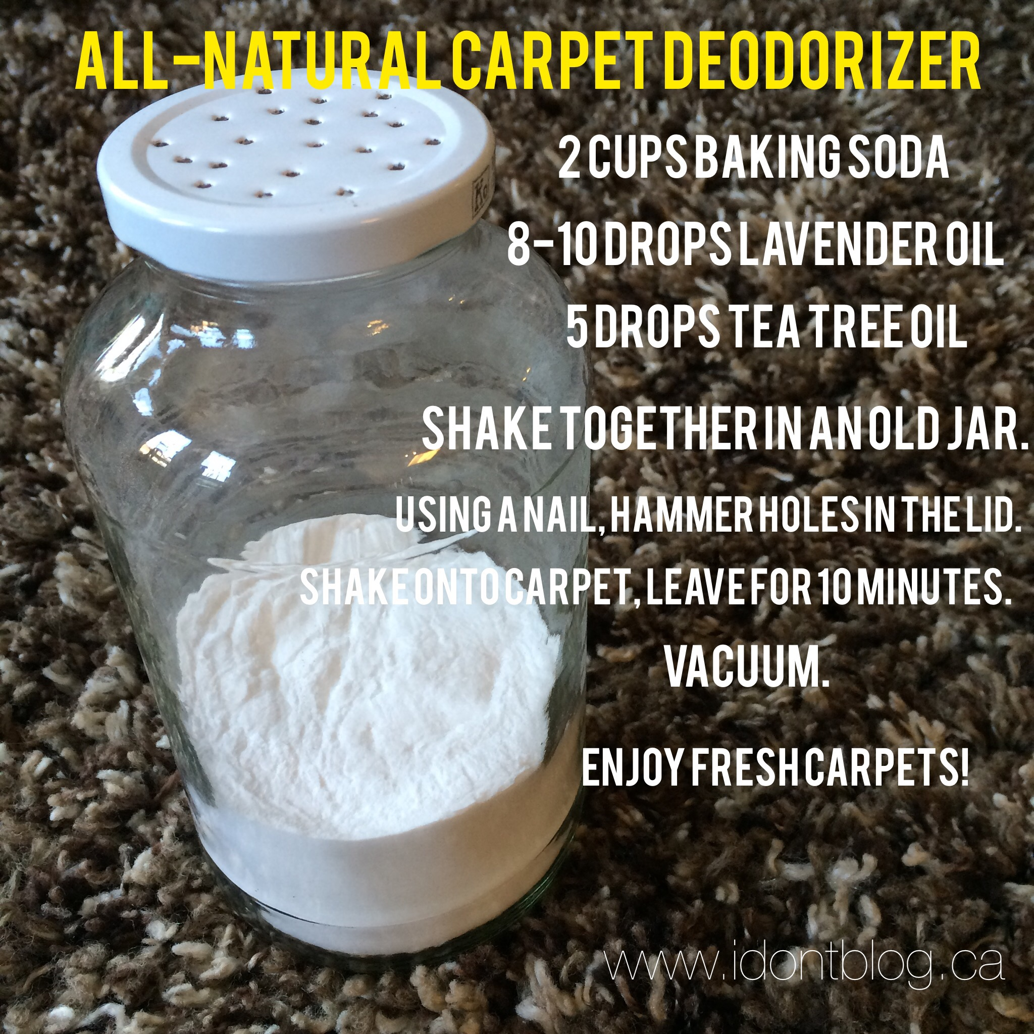 All-natural carpet deodorizer?  Yes, please!