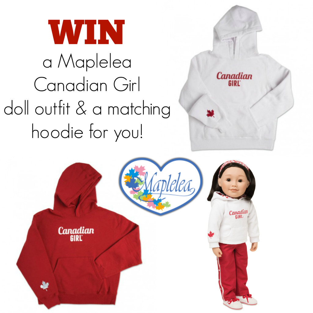 WIN a Maplelea Canadian Girl doll outfit and a matching hoodie for you at IDontBlog.ca!