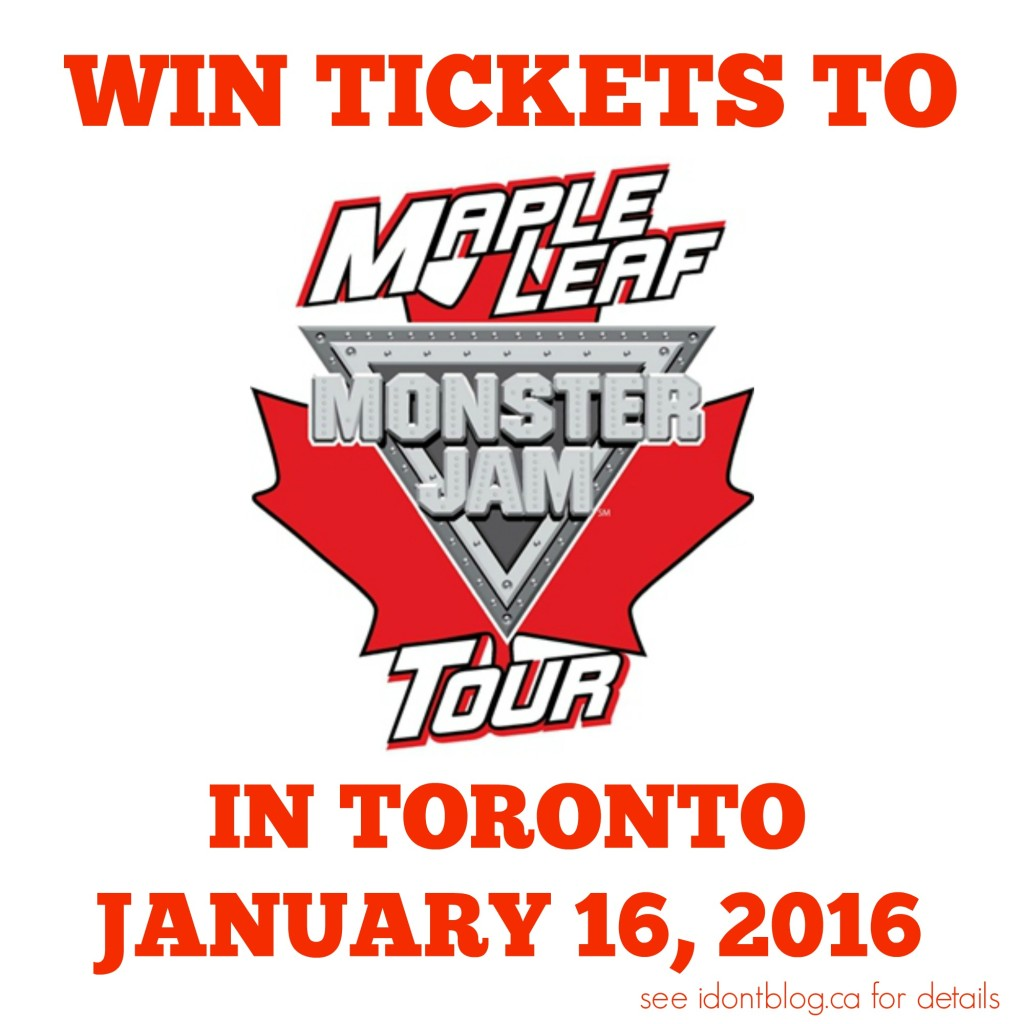 Win a family pass of tickets to see Monster Jam in Toronto on January 16, 2016 from IDontBlog.ca!