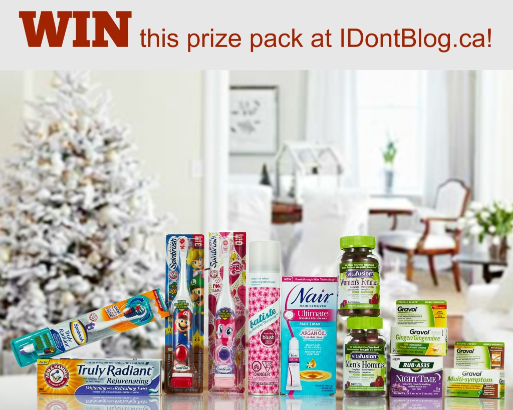 Win a festive prize pack of Church & Dwight products worth more than $100 at IDontBlog.ca!