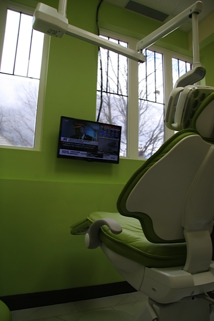 Winchester Dental consider patient comfort a priority. With TVs in the ceiling and in front of each chair, patients can be entertained or distracted