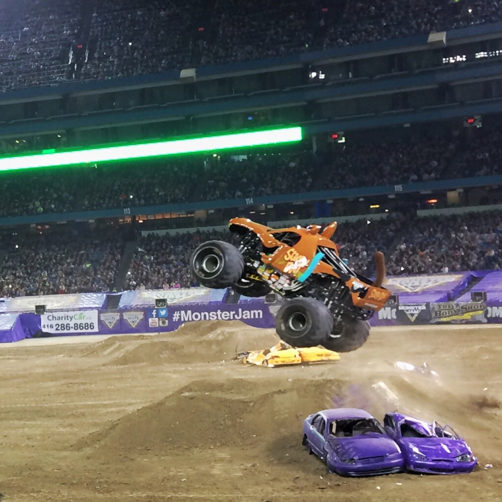 Monster Jam truck drivers do the coolest stunts