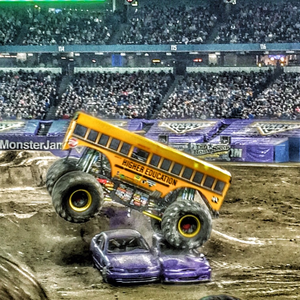 Where else but Monster Jam can you see a COOL bus do this?