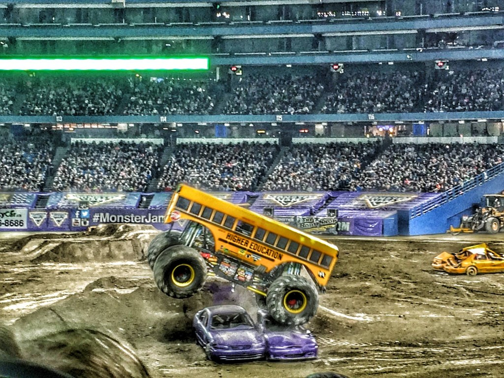 Where else but Monster Jam can you see a school bus do tricks?