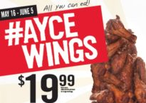 It's WINSANITY time at St. Louis Bar & Grill. AYCE wings for $19.99.