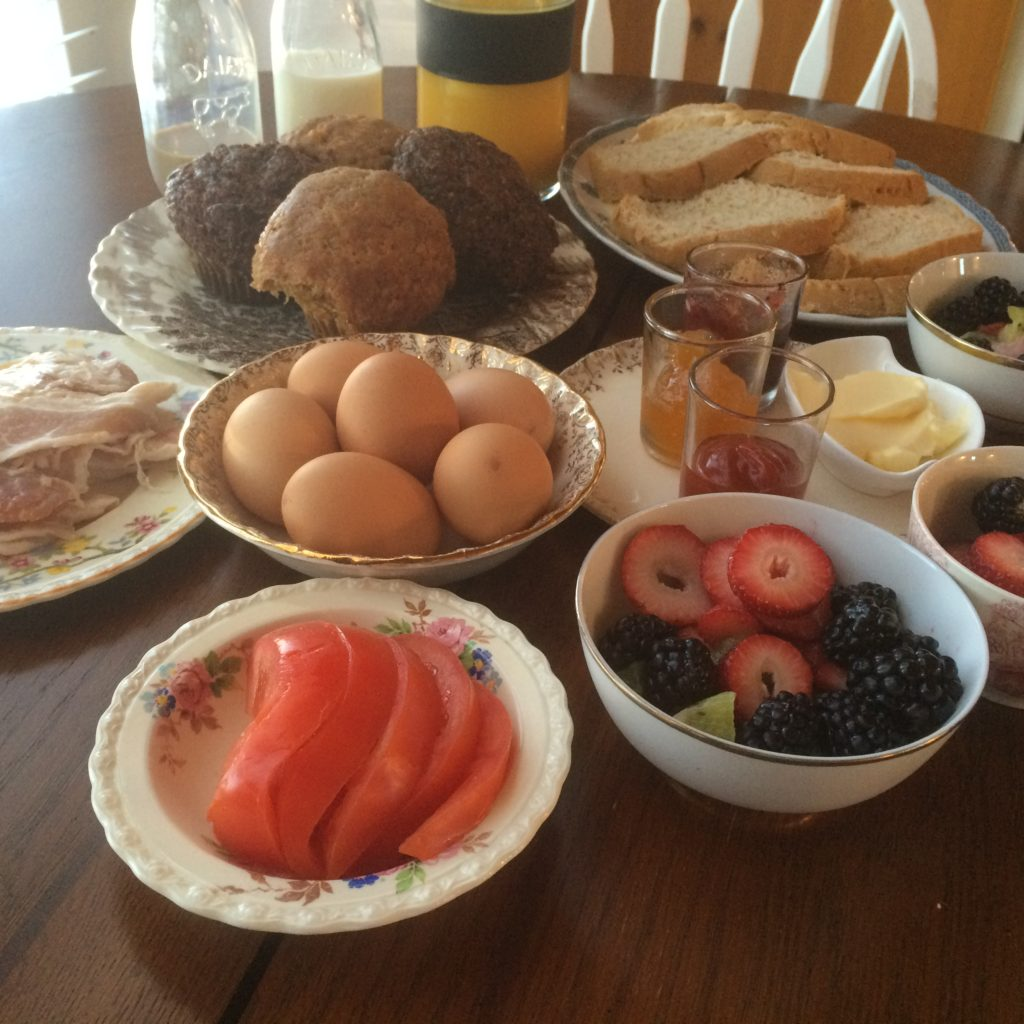 Olde Bridge Place B&B owner Dee Brun stocks guests' kitchens with the very best local ingredients for an amazing breakfast