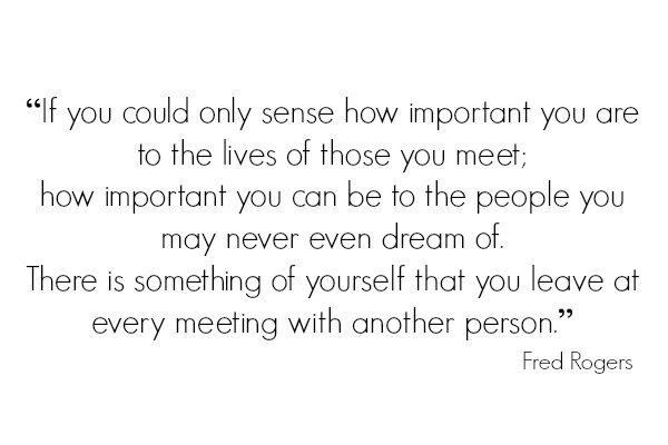 -There is something of yourself that you leave at every meeting with another person- -- read more at IDontBlog.ca
