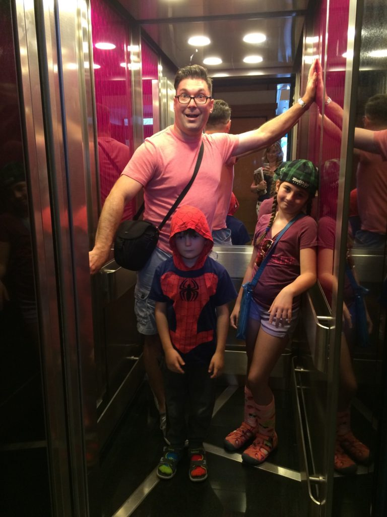 Tiny elevators at Le Cantlie Suites, so pack light