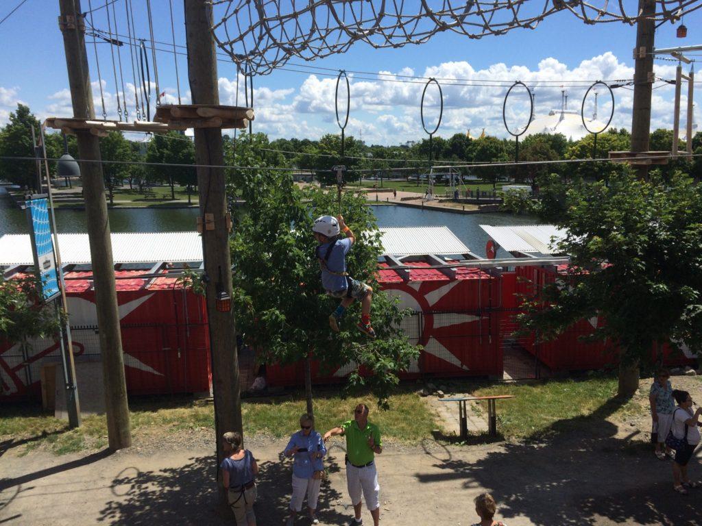 Ziplining at Voiles en Voiles