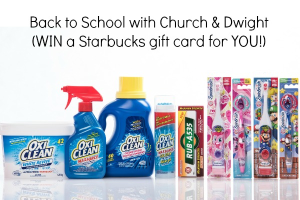 *~GIVEAWAY CLOSED~* Back to School with Church & Dwight (Let me buy you a latte!)