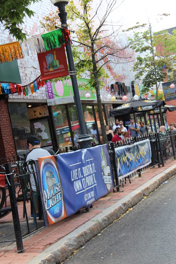 Moncton's main street is lined with fantastic patios and eateries