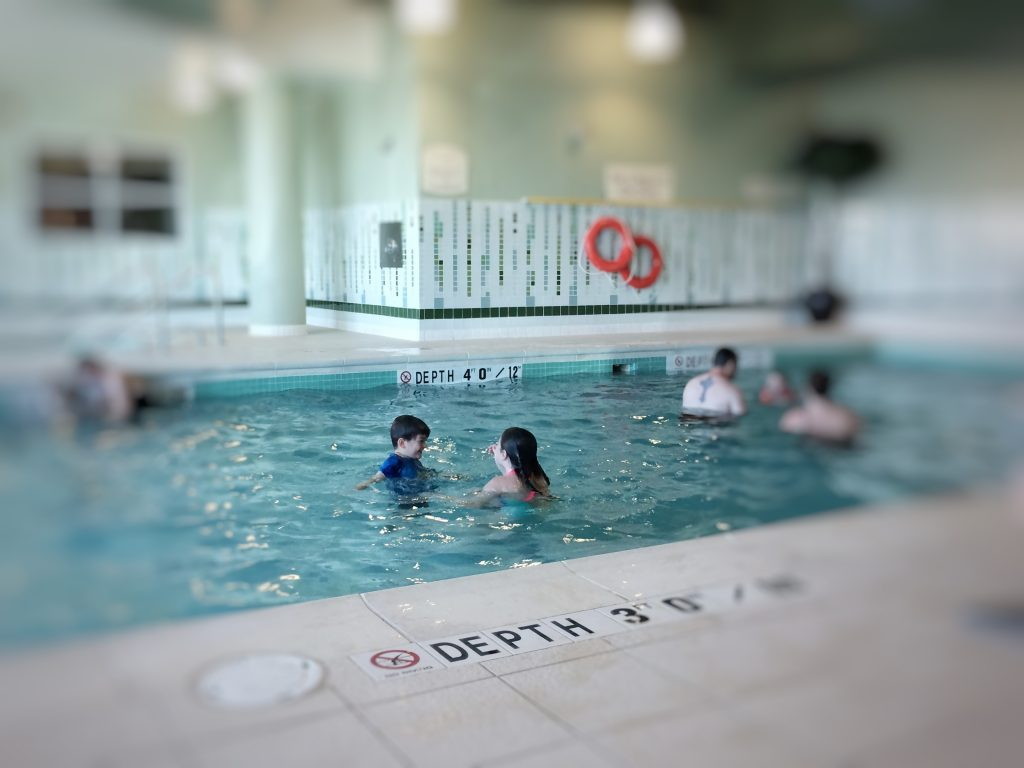 The large saltwater pool at the Marriott Residence Inn in Moncton was a big hit