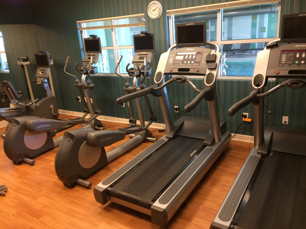 The workout room at the Marriott Residence Inn in Moncton