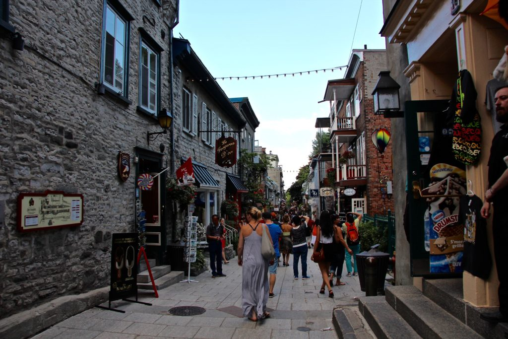 Wandering through the tiny streets of Old Quebec