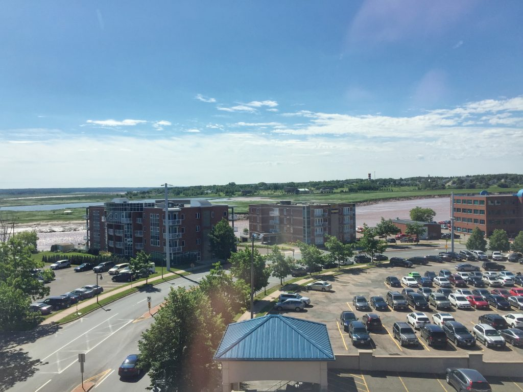 We could see the Tidal Bore from our room at the Marriott Residence Inn in Moncton