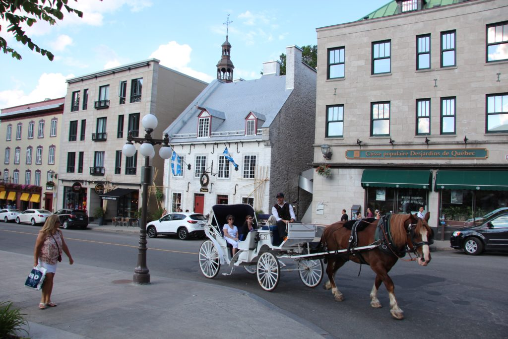 You can also opt for a horse and buggy tour of Old Quebec if you like