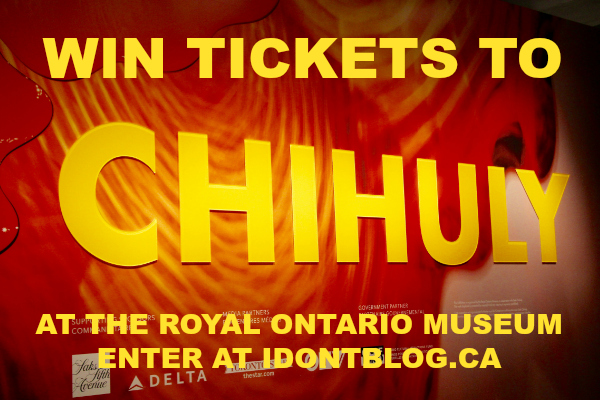 *~ GIVEAWAY CLOSED ~* CHIHULY at the ROM is a Must-See