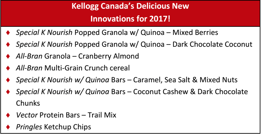 New Kellogg's products are delicious AND healthy!